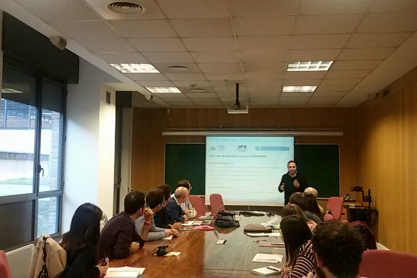 Meeting - Researchers from UAB, UCA and UPC have participated in the II MICROBIOFIN project meeting
