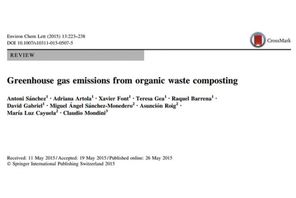 New Publication - Greenhouse gas emissions from organic waste composting. A review.