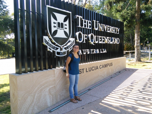 Research Stay - Elena Eijo starts her visit at the Advanced Water Management Centre (AWMC) at the University of Queesland (Australia)