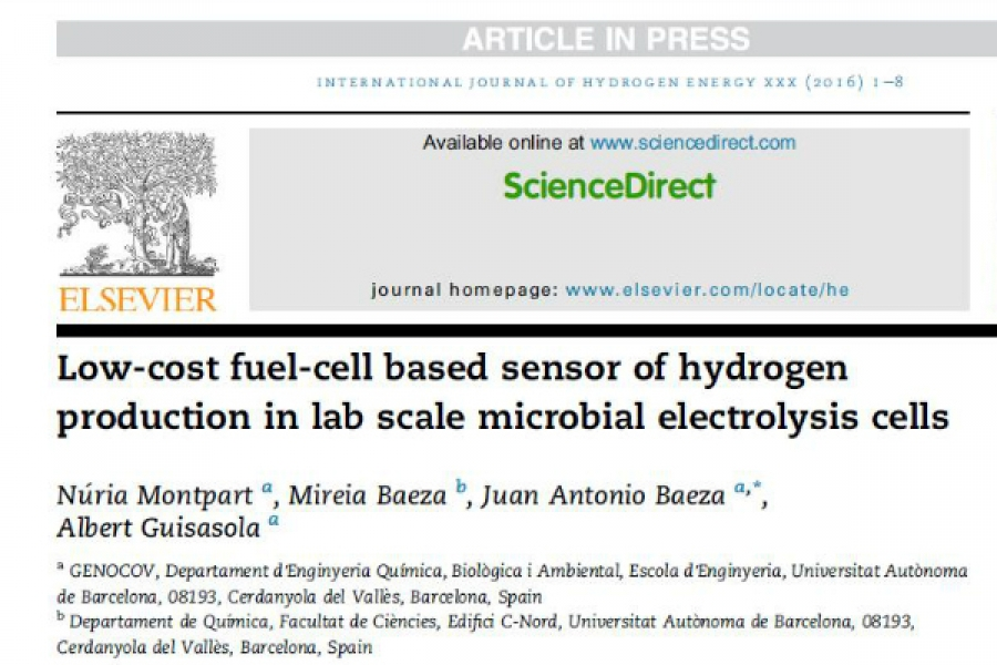 New Publication - Low-cost fuel-cell based sensor of
